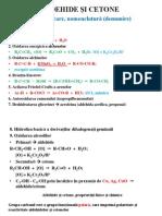Aldehide Si Cetone. Compusi Carboxilici. Derivati Functionali Ai Compusilor Carboxilici