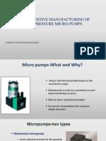 Metal Additive Manufacturing of High-pressure Micro-pumps