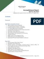 Accomplishment Report (31 July 2014)