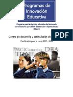Programa Actuacione Tdah 2008 Canarias