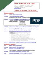 2014 Farmfest Forums --- Panel Members