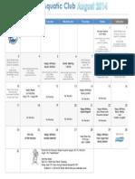 Aug 2014 Calendar