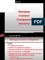 Oracle Customer Consignment Process