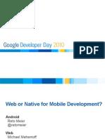 Web or Native for Mobile Development