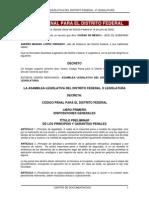 Código Penal Para El D.F.