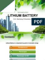 Battery Technology Ia-itb-bambang Prihandoko