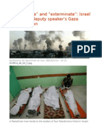 """Concentrate"" and ""Exterminate"" Israel Parliament Deputy Speaker's Gaza Genocide Plan"