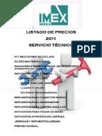 Catalogo Servicio Tecnico 2011