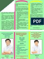 Nuestra Propuesta para el Distrito de Cahuacho 2015 - 2018
