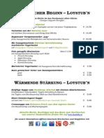Abendkarte Restaurant Loystubn Thermenwelt Hotel Pulverer August