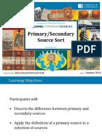 Primary Secondary Sort 2014