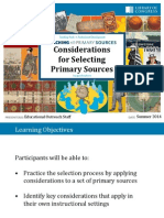 CR Considerations for Selecting Primary Sources 2014