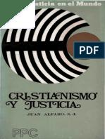 ALFARO Juan - Cristianismo y Justicia - PPC 1973