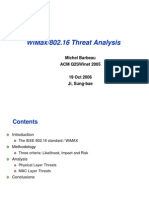 16 WiMax802.16 Threat Analysis 2006