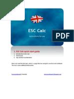 ESC Calc Generic Instructions (English)