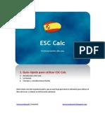 ESC Calc Generic Instructions (Spanish)