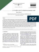 Antioxidant Activity of Caffeic Acid