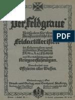 ''Der Feldgraue'' Leitfaden für den Dienstunterricht des Feldartilleristen (1917)