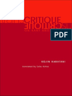 Kojin Karatani - Transcritique on Kant and Marx