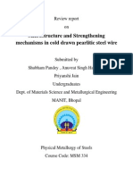 Article on Microstructure and Strenthening Mechanism on Cold Drawn Pearlitic Steel Wire