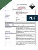 Hds Acido Sulfúrico 95% Exp. Esp.codelco Norte