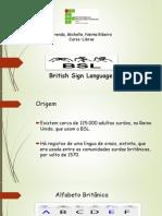 British Sign Language, (BSL)