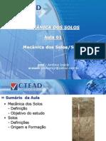 Mecânica Dos Solos 2013.1 Aula 01