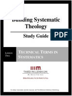 Building Systematic Theology - Lesson 2 - Study Guide