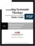 Building Systematic Theology - Lesson 3 - Study Guide