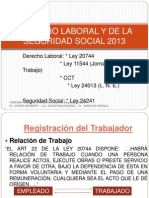 Derecho Laboral y de La Seguridad Social 2013-(Power Point)