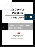 He Gave Us Prophets - Lesson 6 - Study Guide