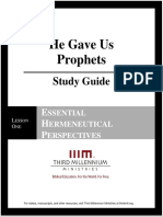 He Gave Us Prophets - Lesson 1 - Study Guide