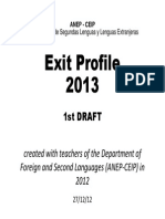First Draft_ Exit Profile 2013