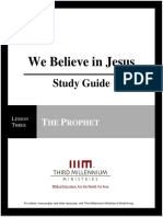 We Believe In Jesus - Lesson 3 - Study Guide