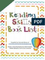 reading skills book list