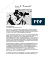 """Las Concepciones de """"Documental"""". Humberto Rios."""