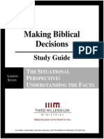Making Biblical Decisions - Lesson 7 - Study Guide
