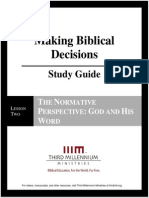 Making Biblical Decisions - Lesson 2 - Study Guide
