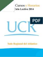 Guía de Horarios Del II Ciclo Del 2014