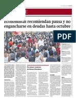 Economistas Recomiendan Pausa_Gestión 4-08-2014