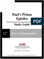 Paul's Prison Epistles - Lesson 1 - Study Guide