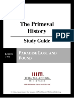 The Primeval History - Lesson 2 - Study Guide