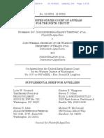 Stormans v. Wiesman - Supplemental Brief in 9th Circuit Appeal