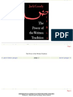 145930517 Goody the Power of the Written Tradition Smithsonian Series in Ethnographic Inquiry