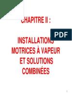 Chapitre 2 Installations Motrices Vapeur