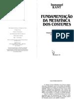 Fundamentação Da Metafísica Dos Costumes-kant