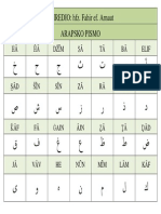 Arapsko Pismo. - Slova Sa Znakovima