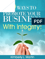 10 Ways to Promote Your Business With Integrity