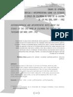 Notas Historiograficas E Interpretativas Sobre Los Estudios de La Guerra (Pérez Mutis)