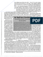 1993 Issue 2 - Excerpt From He Shall Have Dominion, Postmillennial Teaching on Zechariah 14:4 - Counsel of Chalcedon
